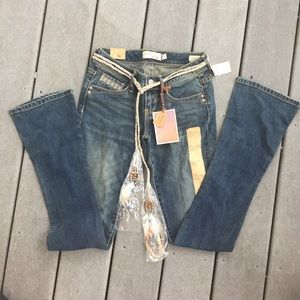 """NWT Young and Faded Jeans-Pac Sun """"The Flirty Boot"""